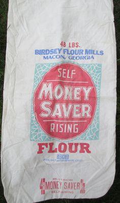 Vintage Flour Sack  Cotton Fabric  Money Saver by AStringorTwo, $24.00