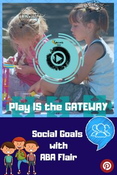 Play is the Gateway: Social Goals with ABA Flair Play Therapy Activities, Social Skills Activities, Counseling Activities, Elementary School Counseling, Elementary Schools, Social Emotional Learning, Aba, Speech And Language, Speech Therapy