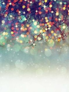 Christmas Glitter and Light Wallpaper for iPhone