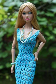Barbie crochet dress Barbie Patterns, Doll Clothes Patterns, Poppy Doll, Fashion Dolls, Fashion Outfits, Barbie Wardrobe, Crochet Barbie Clothes, Barbie Dress, Knitted Dolls