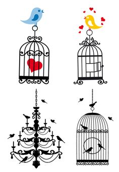VECTOR CAGE FREE VECTOR Inkscape Tutorials, Shrink Art, Steampunk Design, Birdcages, Silhouette Cameo Projects, Modern Cross Stitch, Fabric Painting, Cute Drawings, Graphic Illustration