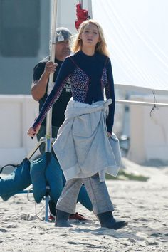 Pin for Later: Blake Lively Hit the Beach Just Days Before Her Pregnancy News Broke