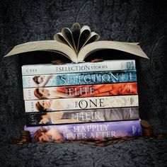 The Selection Series by Kiera Cass By far one of my favourite series ever! Sure the love story might be a bit cliché but it's still a good story! America and Maxon are amazing and I can't wait to read more about them and their family in the final book of the series, The Crown! - I highly recommend you go pick it up because its adorable and great for getting people out of reading slumps! - #crownproblems #theselection #theelite #theone #theheir #thecrown #kieracass #mustread...