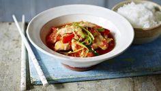 Chilli chicken with jasmine rice
