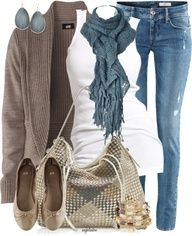 casual but elegant Autumn outfit (for soft summer)