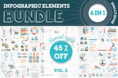Infographic Elements Bundle by Mayachok on Creative Market