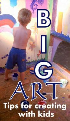 Creating BIG art with kids-  When it comes to making something *together* with your kids, is bigger better?