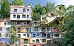 Unidentified unusual building with edible gardens - Going green: plants can be grow in the most unexpected of places