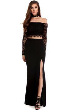 Morticia Lace Two Piece Dress