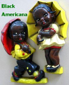 Black Americana Chalk Ware Figurine Vintage Collectibles