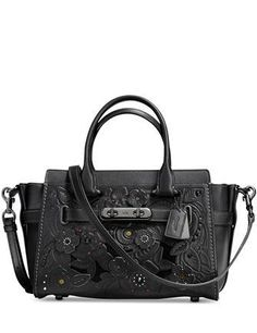 a915b33e2e617 Coach Swagger 27 in Glovetanned Leather with Tea Rose Tooling. Coach  PursesCoach HandbagsPurses ...