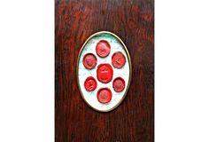 Framed Red Wax Itaglio Seals