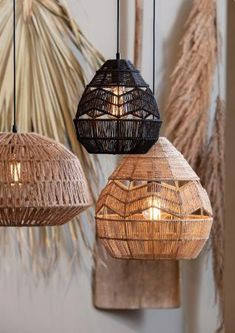 Home Lighting, Pendant Lighting, Pool House Interiors, Rope Decor, Jute Crafts, Industrial Interior Design, Diy Chandelier, Home Decor Furniture, Lamp Light