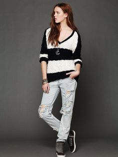 Free People Striped Shaggy Knit Pullover http://www.freepeople.com/whats-new/striped-shaggy-knit-pullover/