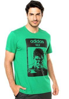 Camiseta adidas Performance Hulk Verde - Marca Adidas Performance