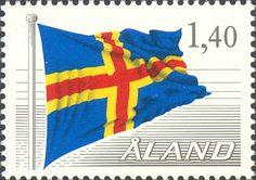 Stamp: Flag (Åland Islands) (Definitives) Mi:AX 4,Sn:AX 7,Yt:AX 4,Sg:AX 8,AFA:AX 4,Un:AX 4