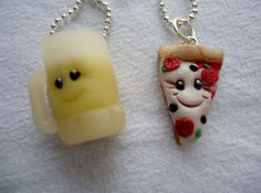 Pizza & Beer Best Friends Necklaces. $12.99, via Etsy.