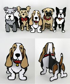 Pop Out Dogs by Marc Tetro: These unique and ingenious cut-outs make great gifts and are ideal as desktop accessories. Because your dog (and cat!) can't always be by your side.
