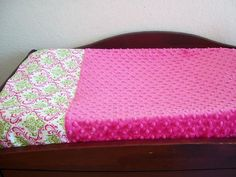 Madison Damask Changing Table Pad Cover  Pink by GabriellasKloset, $23.99