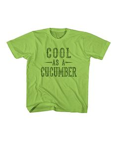 Key Lime 'Cool as a Cucumber' Tee - Toddler & Boys