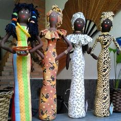 ♥BONECAS AFRICANAS ♥ ...todas em tecido....