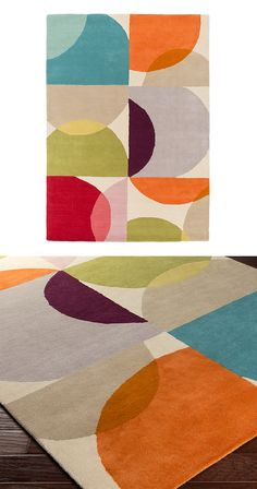 With poppy overlapping circles, this vibrant Venn Rug will add a touch of chic, mid-century style to any room. Hand-tufted, this medium pile rug is made from plush cotton and features a reliable cotton...  Find the Venn Rug, as seen in the Make it Your Own Mid-Century Collection at http://dotandbo.com/collections/make-it-your-own-mid-century?utm_source=pinterest&utm_medium=organic&db_sku=115770