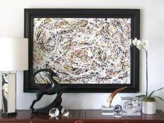 Los Angeles: large abstract expressionist action painting  - http://furnishlyst.com/listings/1095360