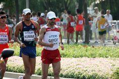 Jesús Ángel García Bragado ya está peleando en la prueba de 50km marcha en su 12º Mundial consecutivo. Sin duda, toda una leyenda del atletismo español en acción.