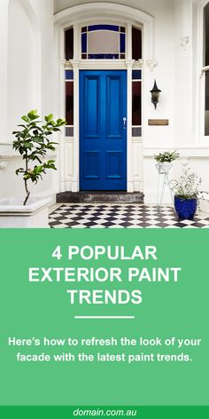 Four popular exterior paint trends and how to achieve them House Paint Exterior, Exterior Design, Pintura Exterior, Facade House, House Front, House Painting, Cottage Style, House Colors, Interior Design Living Room