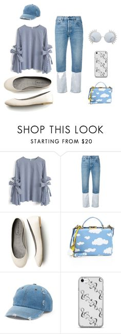 """Saturday morning"" by cristina-barberis ❤ liked on Polyvore featuring Chicwish, Ports 1961, Mark Cross, Mudd and Linda Farrow"