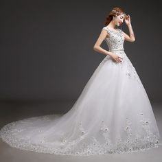 典恒新娘 一字肩拖尾婚纱 2014新款时尚婚纱冬 高端定制婚纱礼服