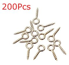 200Pcs Silver Tone Screw Drilled Pins by rabbitssupplies on Etsy