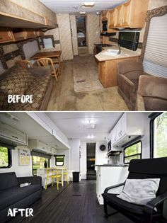 Easy RV Remodels On A Budget 45 Before And After Pictures 0835