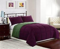 Cozy Beddings 2-Piece 64 by 88-Inch Reversible Down Alternative Comforter Set, Twin, Purple/Olive Green Cozy Beddings http://www.amazon.com/dp/B009VKF1LS/ref=cm_sw_r_pi_dp_TCYVub0VS6DWF