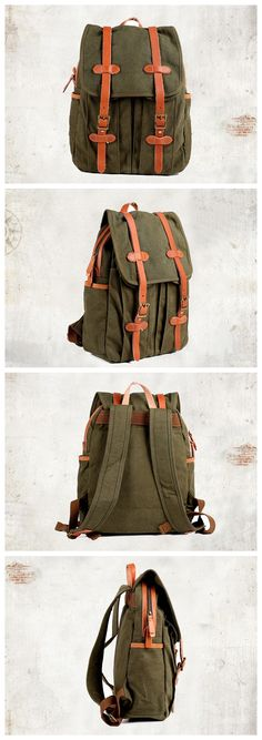 vintage leather rucksack