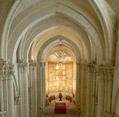 Gothic Cathedral interior at Salamanca
