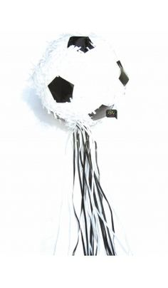 1000 images about anniversaire on pinterest football soccer theme parties - Ballon foot noir et blanc ...