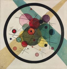 """worldpaintings: """" Vasily Kandinsky Circles in a Circle, 1923, oil on canvas, 98.7 x 95.6 cm, Philadelphia Museum of Art. For Kandinsky, the circle, the most elementary of forms, had symbolic, cosmic significance. He wrote that """"the circle is the..."""