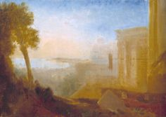 Overlooking the Coast, with Classical Building (c.1827–8)