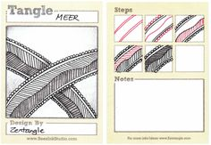 Meer, by Zentangle, illustrated by Sandy Steen Bartholomew, CZT