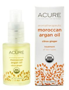 Aromatherapeutic Argan Oil Citrus Ginger Acure Organics 1 oz Oil - http://essential-organic.com/aromatherapeutic-argan-oil-citrus-ginger-acure-organics-1-oz-oil/
