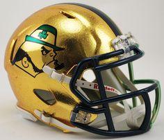 Notre Dame Fighting Irish Mini Speed Helmet - 2015 Boston Shamrock