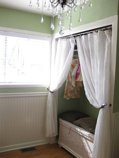 nursery. we could adapt this to fit our house (put a curtain like that in one of our rooms)
