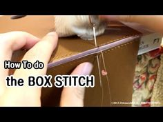 Hi :) I shared how to do the box stitch & my very first box stitching moment! Leather Diy Crafts, Leather Gifts, Leather Books, Leather Bags Handmade, Leather Projects, Leather Jewelry, Leather Crafting, Leather Accessories, Leather Bag Pattern