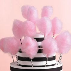 Cotton candy cake Would be great different color stripes and cotton candy