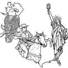 Le Dessin Represente Les Etats Unis Forment Un Pays DAmerique