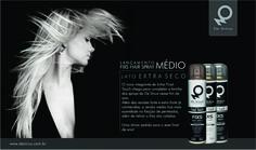 Divulgação lançamento Fixs Hair Spray Médio. Empresa: De Sírius Cosméticos Criação: Denise Henderson. Divulgação: Twitter De Sírius Cosméticos, Dezembro 2011