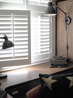 How Easy Is It To Install DIY Shutters? Let's find out by getting a 17 year old with no DIY skills to fit them. You'll be surprised just how easy it is! Cafe Shutters, Diy Shutters, Window Shutters, Bedroom Windows, Sash Windows, Dark Interiors, A 17, Interior Design Inspiration, Space Saving