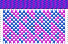 Normal Friendship Bracelet Pattern #8527 - BraceletBook.com
