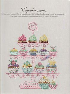 cupcakes cross stitch cart